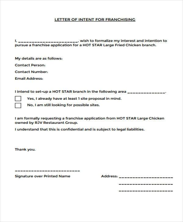 Franchise-Anforderungsschreiben-12991