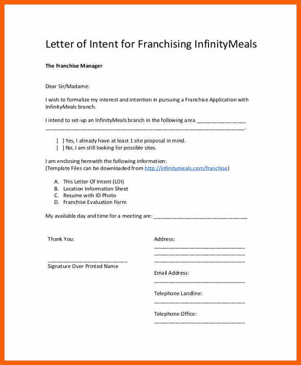 Franchise-Briefformat-Absichtserklärung-für-das-Franchising-von-unendlich-Speisen-17321