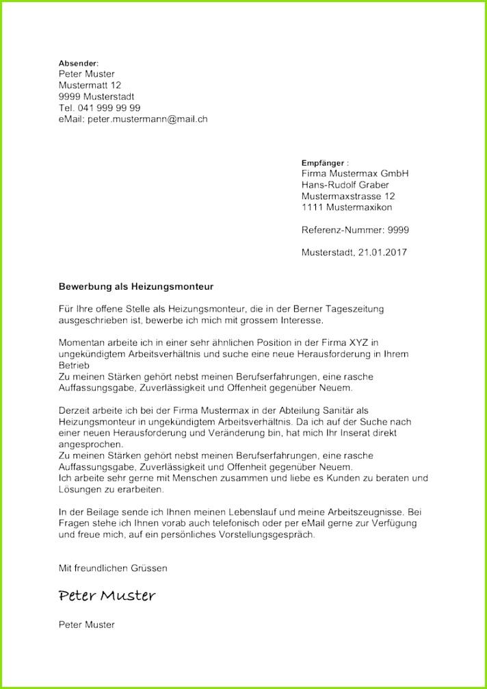 Bewerbungsbrief Beispiel Gratis Bewerbungsschreiben Muster 3
