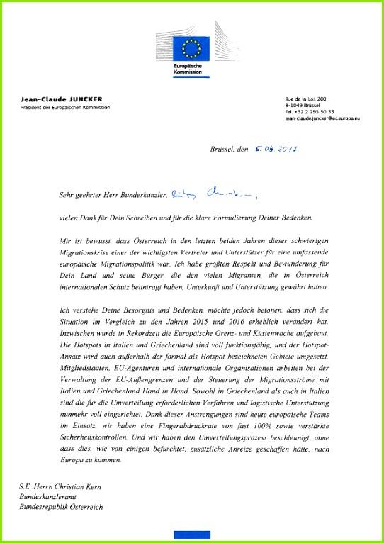 Kanzler Christian Kern hatte per Brief bei der EU um ein erneutes Aussetzen der Umverteilung von Flüchtlingen nach –sterreich gebeten