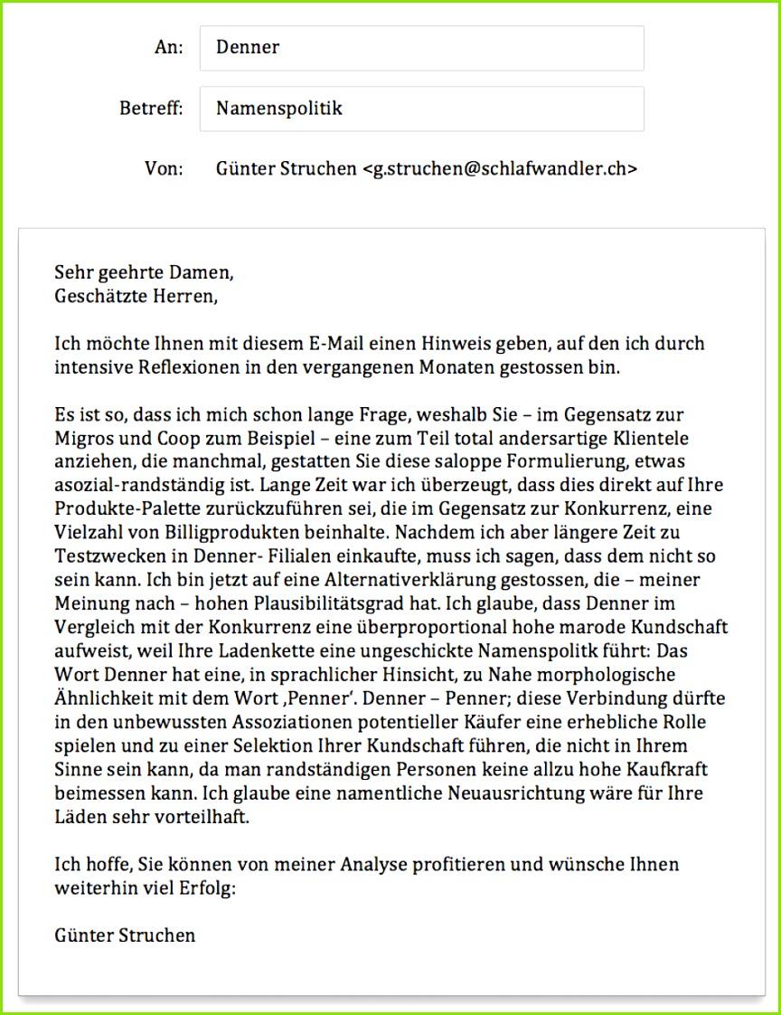Hervorragend Bewerbung Verkäuferin Denner Günter Struchen 130 Kundschaft Im Denner