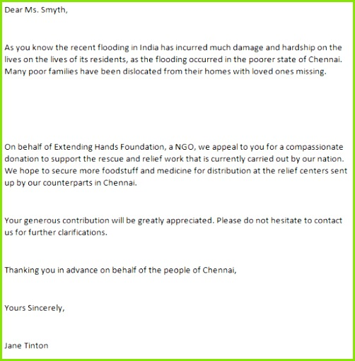 charity funds request letter 01
