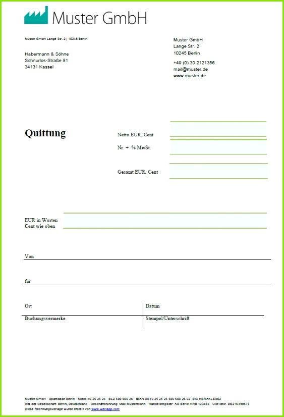 Vorlage Privates Darlehen Best Quittungsvorlage & Quittungsvordruck Zum Quittung Schreiben