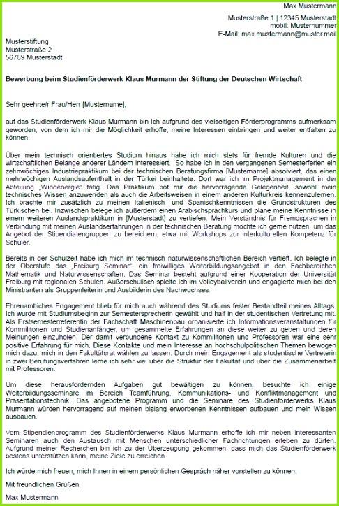 Ausgezeichnet Probe Empfehlungsschreiben Fƒ¼r Stipendium Lehrer