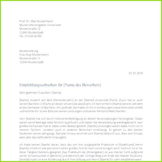 Empfehlungsschreiben Kostenlose Muster & Vorlagen Bewerbung