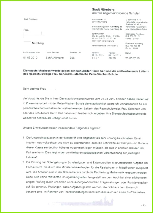 Beschwerde Gegen Lehrer Vorlage Beste Beschwerdebrief Schreiben Schule Beschwerdemail
