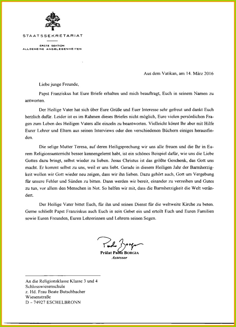 brief an lehrer schreiben