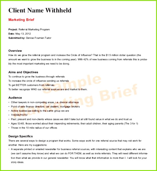 Marketing Brief Template Download