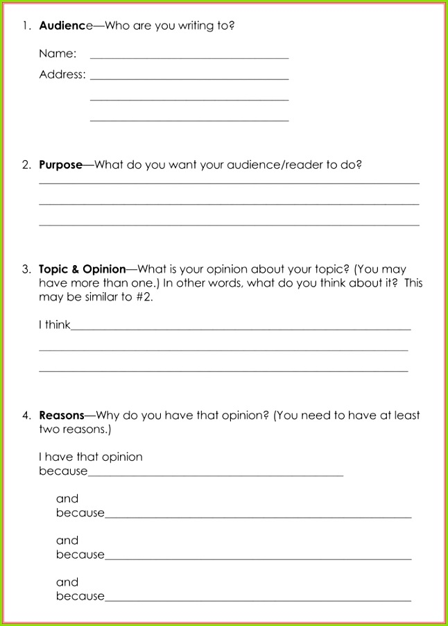 Persuasive Letter Format