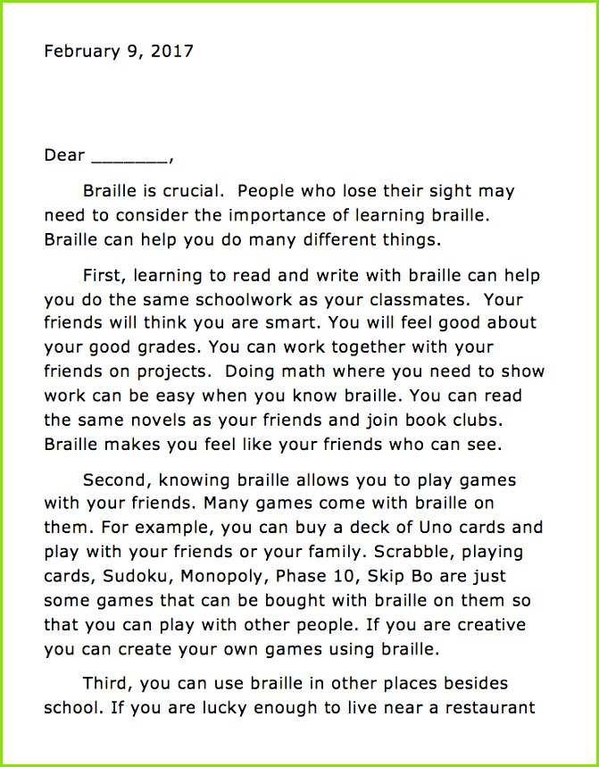 Download sample persuasive letter