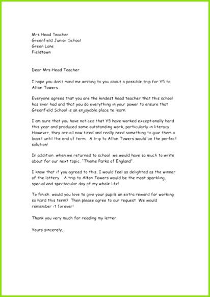 Persuasion Letter sample 002