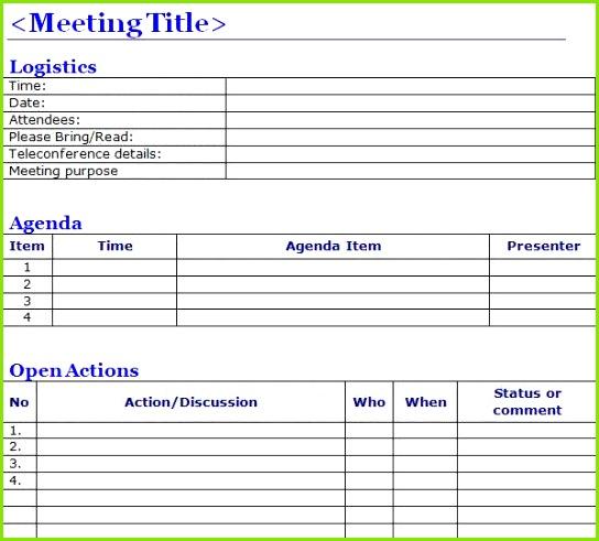 Besprechungsprotokoll Vorlage Excel