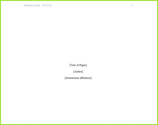 Microsoft Word Apa Template Free 15 Besten Microsoft Word Deckblattvorlagen Model