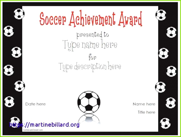 Certificate Samples Free or soccer Award Certificate Template New Turabian Template 0d