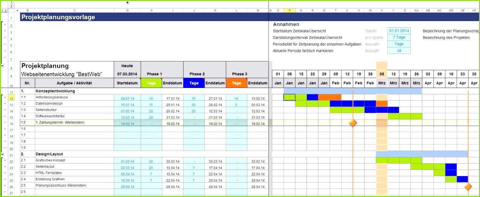 Projektplan Excel Vorlage Cool Excel Projektplanungstool Pro Zum