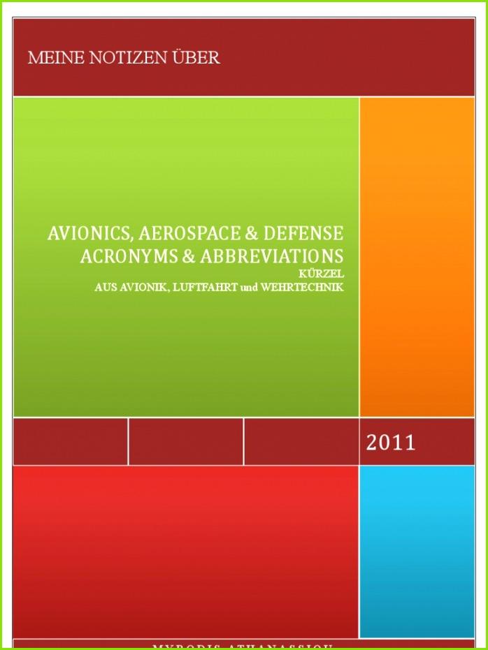 259 AVIONICS AEROSPACE AND DEFENSE ACRONYMS AND ABBREVIATIONS Januar 2011