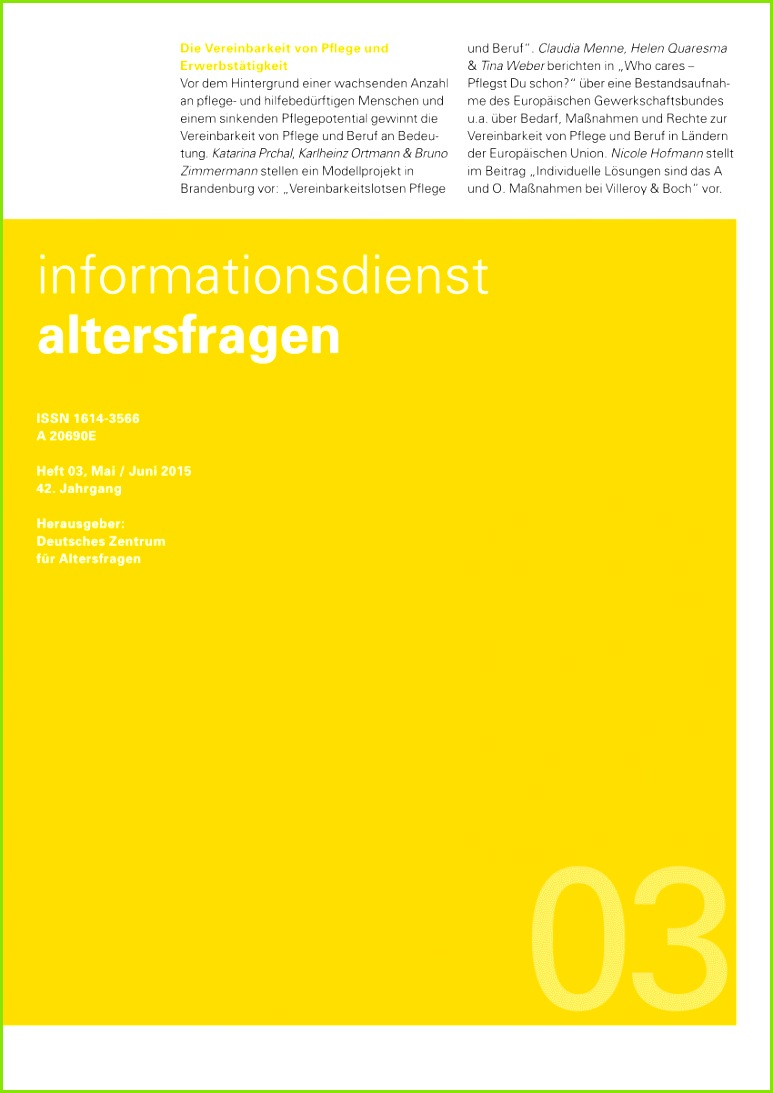 PDF Vereinbarkeitslotsen – ein Modellprojekt zur Förderung der Vereinbarkeit von Pflege und Beruf