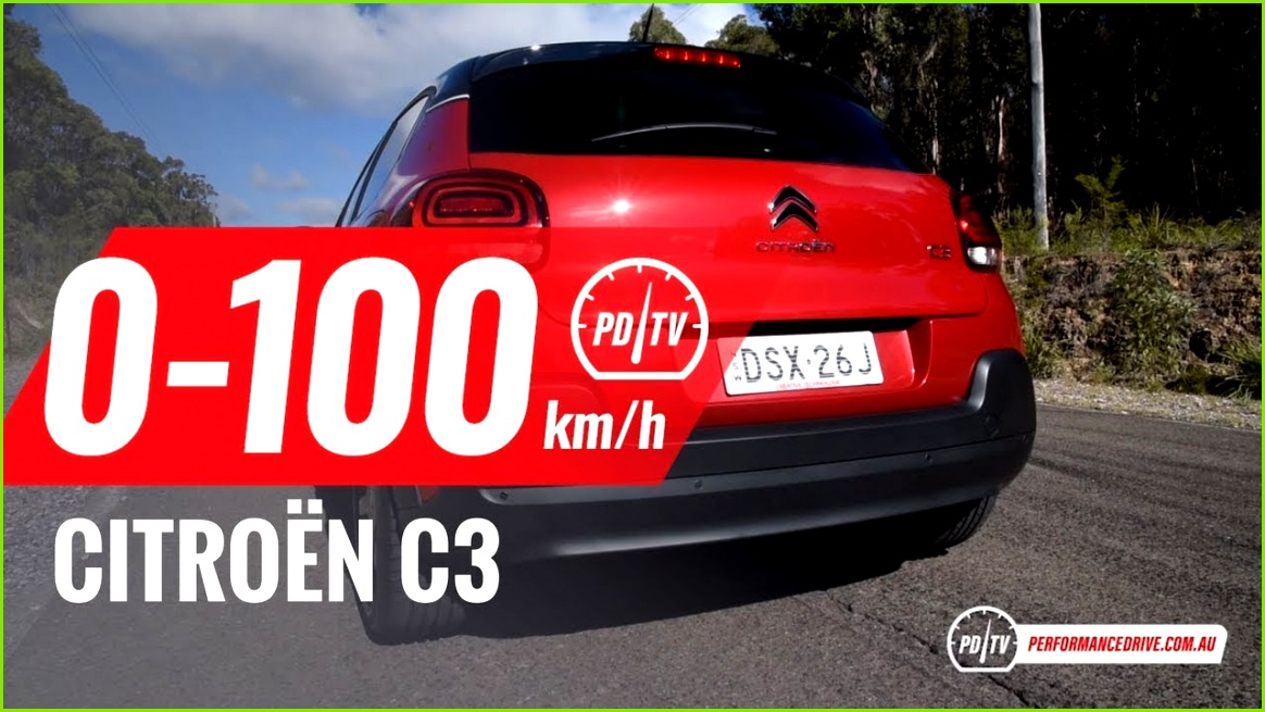 2018 Citroen C3 1 2T 0 100km h & engine sound