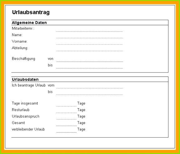 Betriebsvereinbarung Urlaub Muster Urlaubsantrag Kostenlos Vorlage Frisch Vorlage Urlaubsantrag
