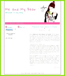 Another cute blogger template linda plantilla de Blogger for you Me and My Bear blogger template Its name based on graphic on header girl with her bear