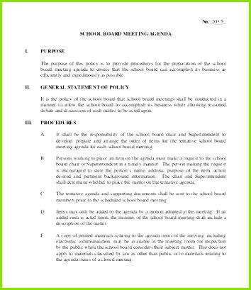 School Board Meeting Agenda Template