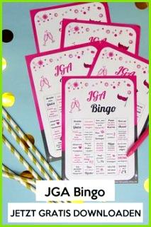 JGA Bingo Spielvorlage