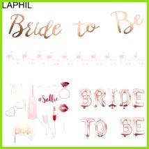 Kaufen LAPHIL Team Braut Luftballons Nur Verheiratet Banner Hochzeit Dekoration Brautdusche booth Bachelorette Partei Liefert Bride