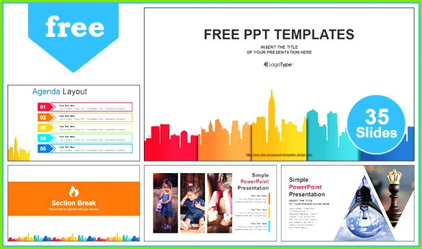 City Buildings Business PowerPoint Templates Post