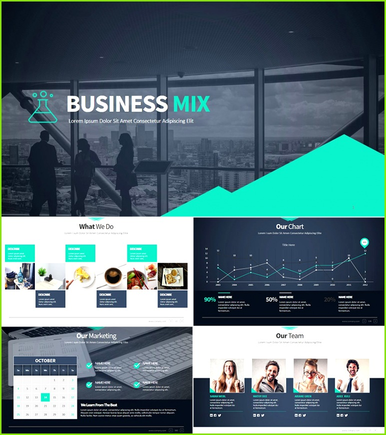 Business Mix Modern Premium PowerPoint Presentation Set