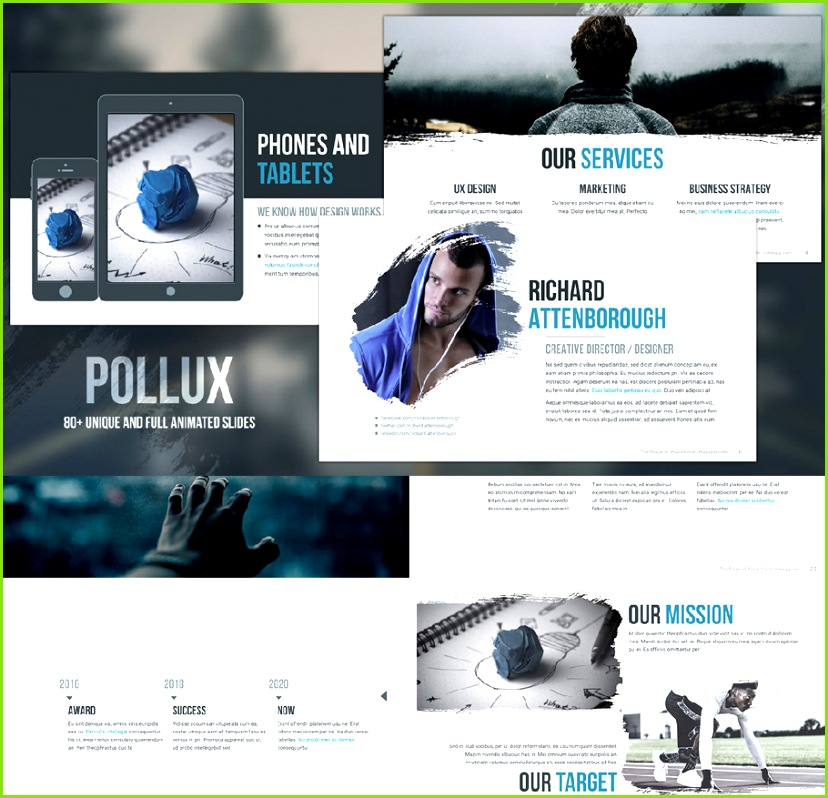 pollux free business powerpoint templates