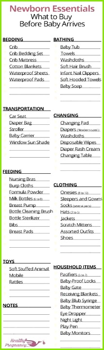 A plete shopping checklist for newborns Everything you will want to stock up on before