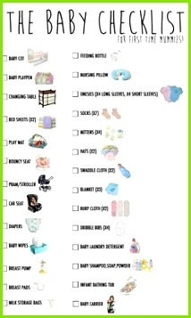 Newborn Necessities List New Baby Essentials List Newborn Baby Essentials Baby Checklist Newborn
