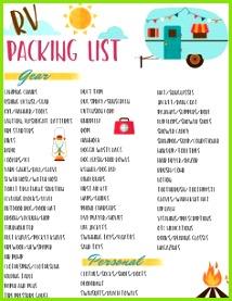 Free RV Checklist Printable Packing List
