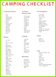 Camping checklist what to pack for a camping trip Ask Anna Camping List