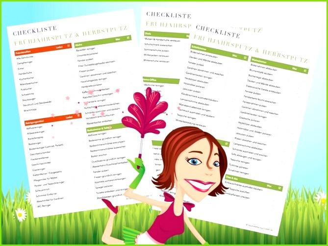 wöchentliche reinigung checkliste