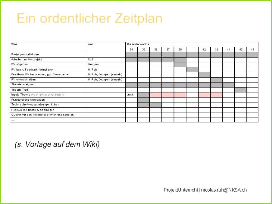 14 Zeitplan Vorlage Word
