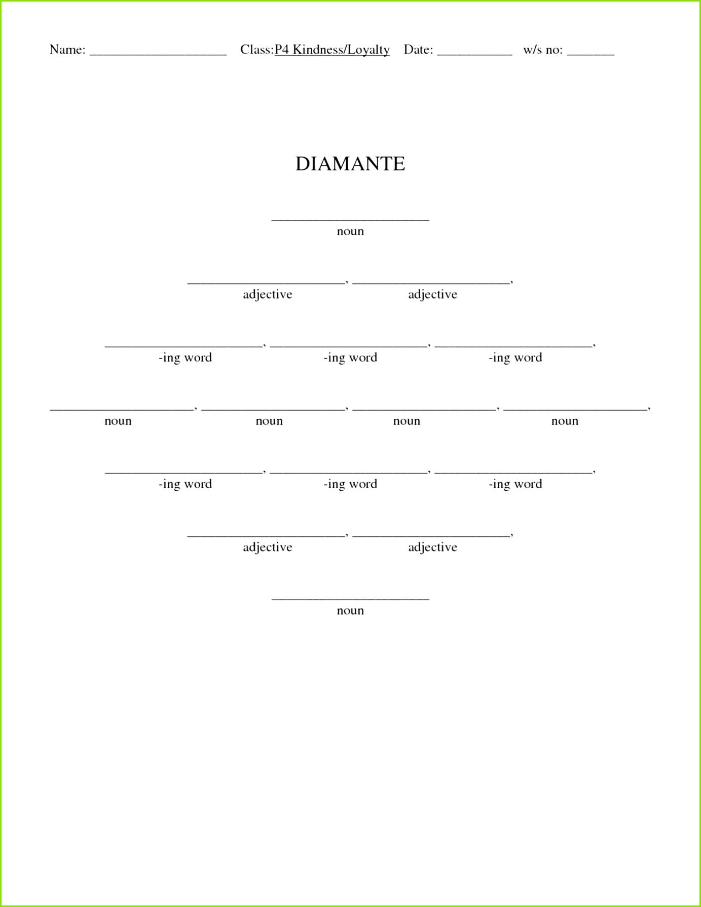 Ideal Diamante Poem Template Unique Diamante Poem Template Resume Diamante Poem Format rs3