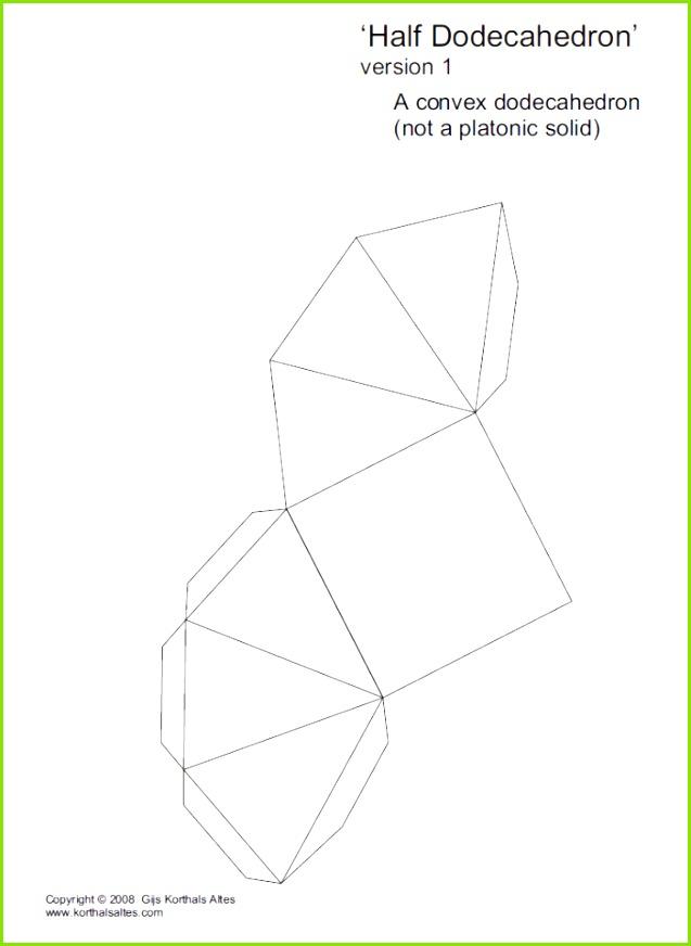 Net half isosceles dodecahedron 1