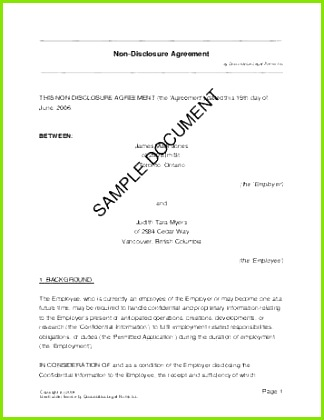 Simple Employment Contract Template Free Best Employee Nda Agreement Beautiful Disclosure Agreement 0d – Agreement
