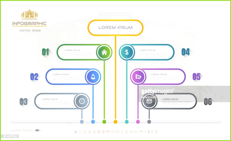 Infografiken Entwurfsvorlage mit Icons Ablaufdiagramm eps10 Vektorgrafik Vektorgrafik