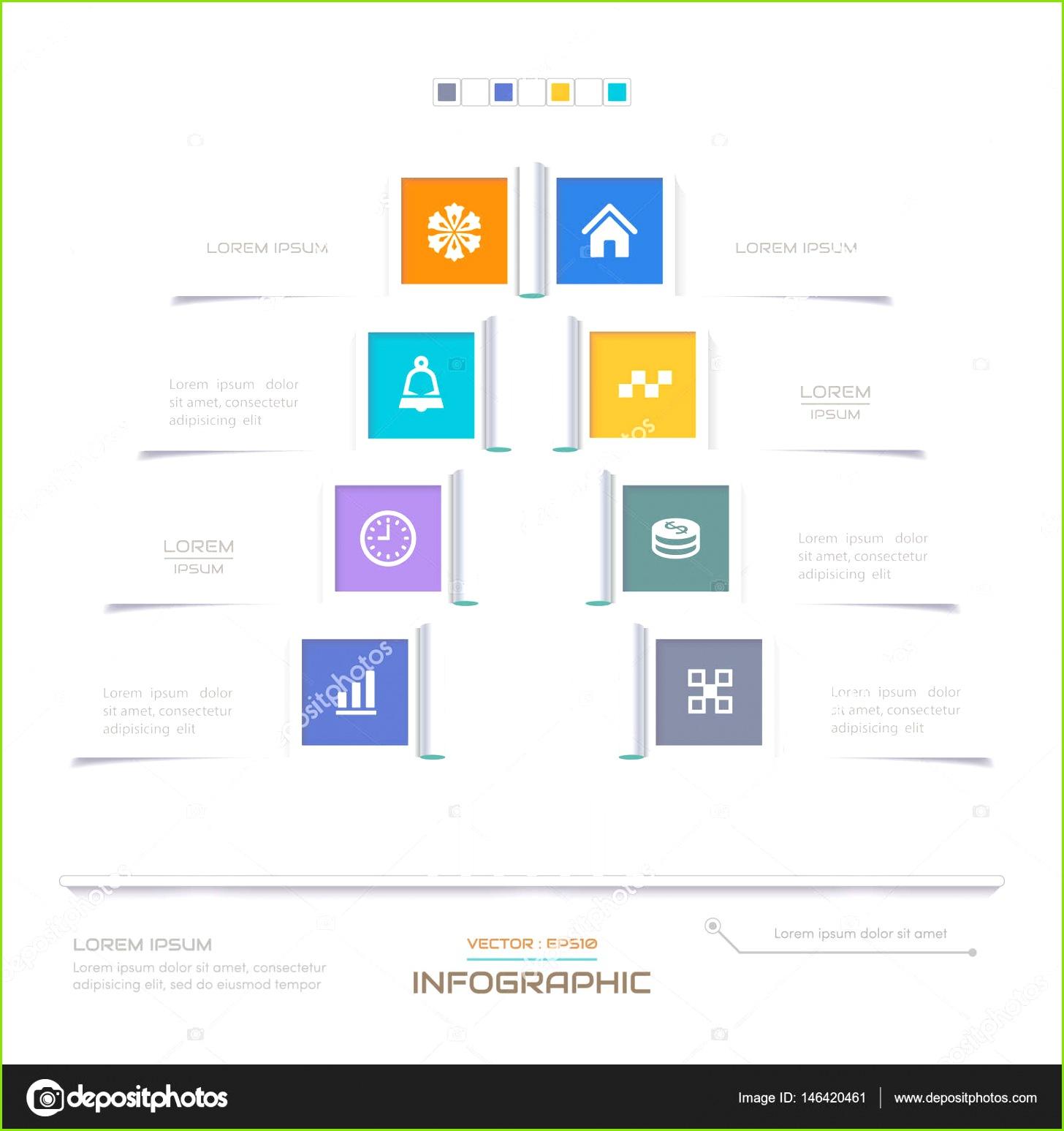 Infografiken Entwurfsvorlage mit Icons Ablaufdiagramm eps10 Vektorgrafik — Vektor von amorno