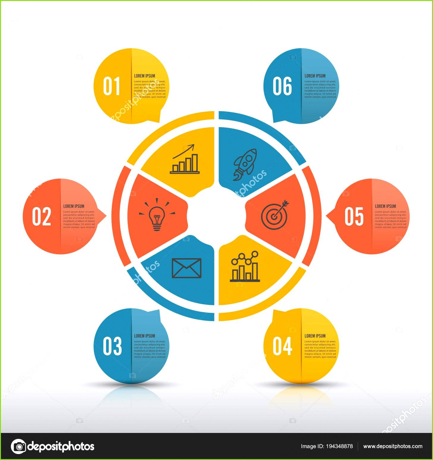 Vektor Infographik Entwurfsvorlage Geschäftskonzept Mit Optionen Teile Schritte Oder Verfahren — Stockvektor