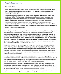 Psychology Case Study Example Case Study Template Templates Report Template Free Samples