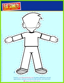 Flat Stanley cut out template back Flat Stanley Template Classroom Themes