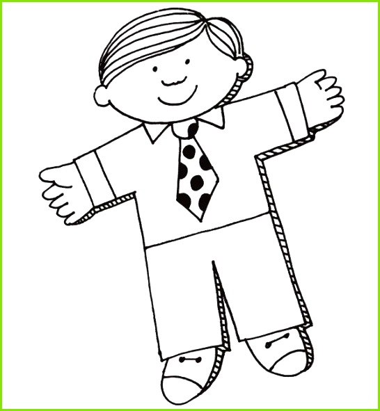 Flat Stanley Template and Letter Flat Stanley