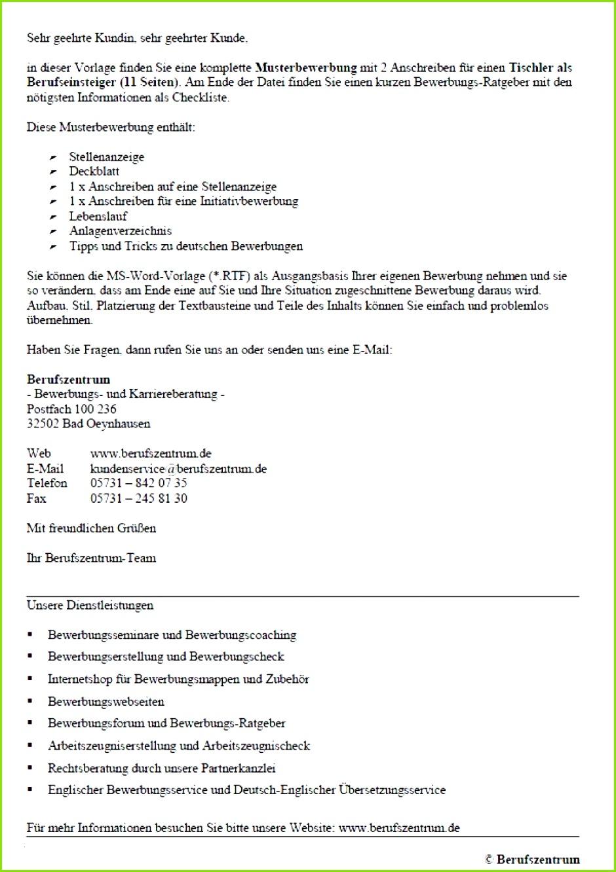 Bewerbungs Anschreiben Muster Tischler Vl 4 Ry 3 Od 2 W Bildnis Inspirierend Textbausteine Bewerbung Anschreiben