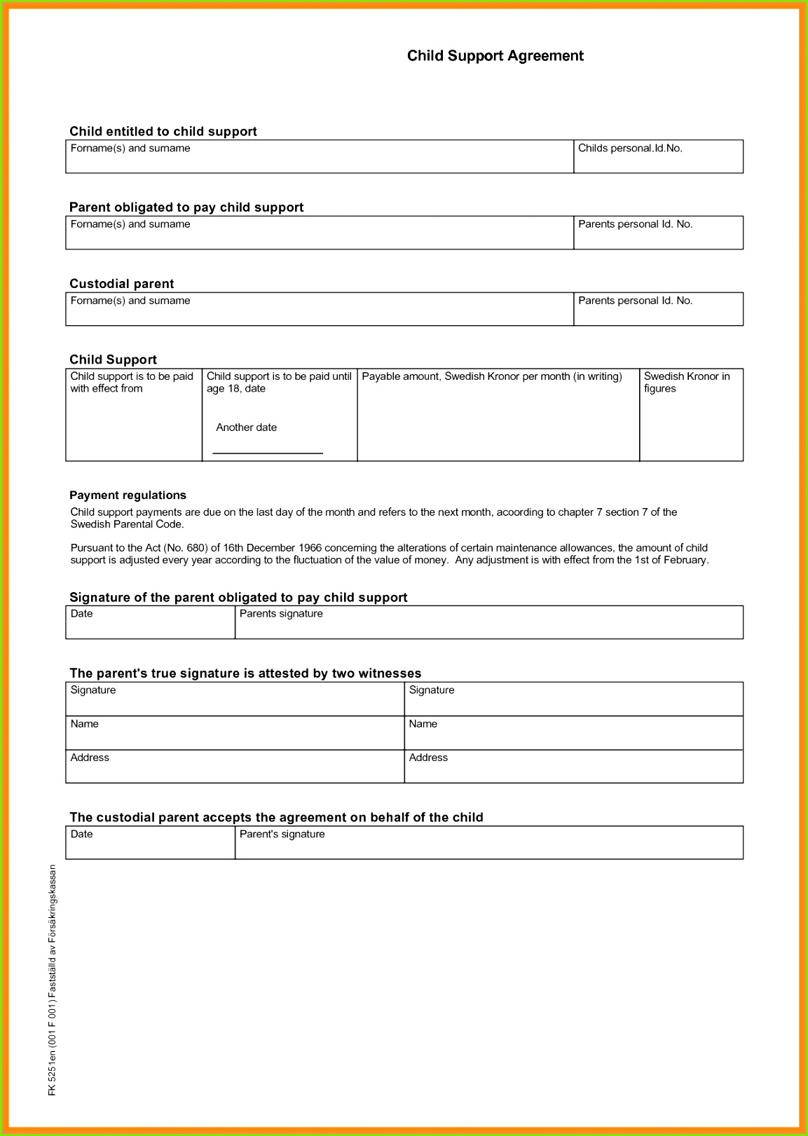 Child Maintenance Agreement Letter Template Financial Support Agreement Template Inspirational Child Support
