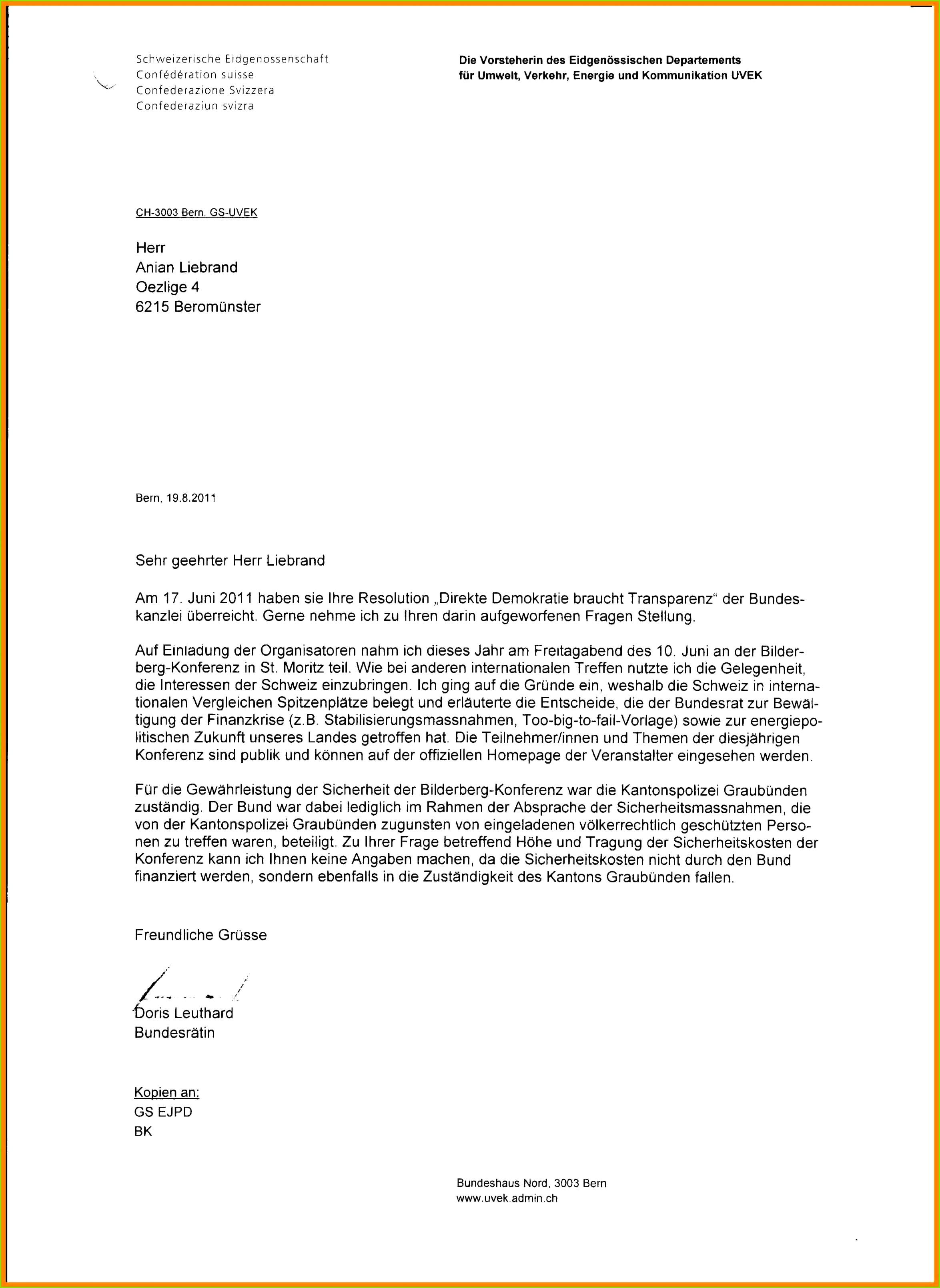 Brief Schreiben Vorlage Cool 12 Briefform Vorlage – Energyvision