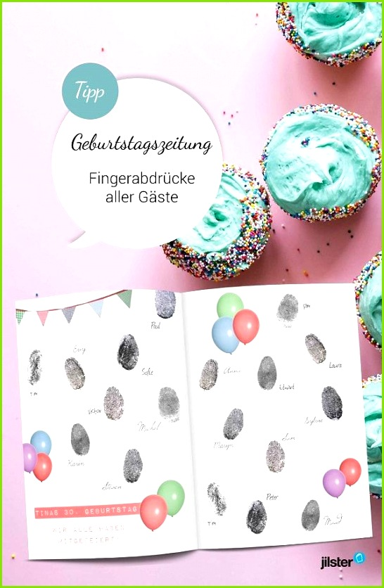 Gästebuch mit Fingerabdrücken Zeitschrift gestalten Vorlagen Tipps & Ideen rund ums Zeitung erstellen