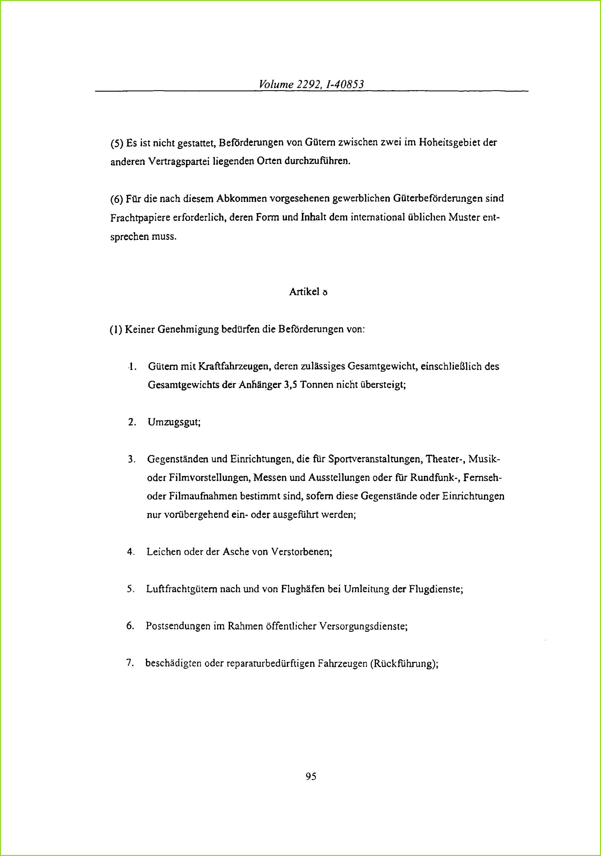 Volume 2292 1 5 Es ist nicht gestattet Befdrderungen von
